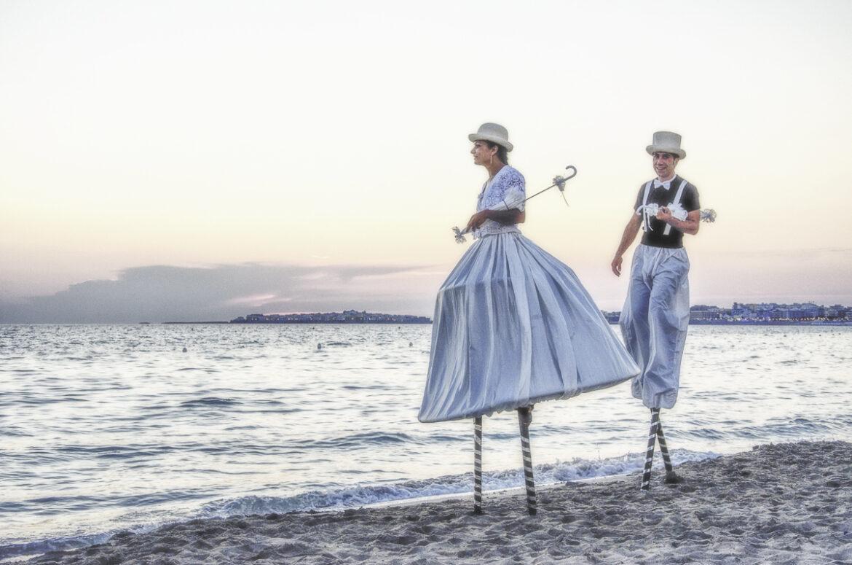 Trampolieri artisti di strada eventi e matrimonio
