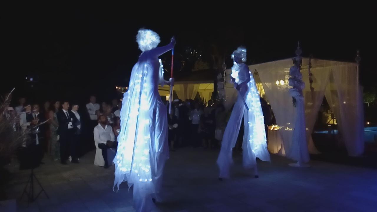 Farfalle luminose per matrimonio