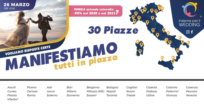 Insieme per il Wedding in 30 Piazze d'Italia