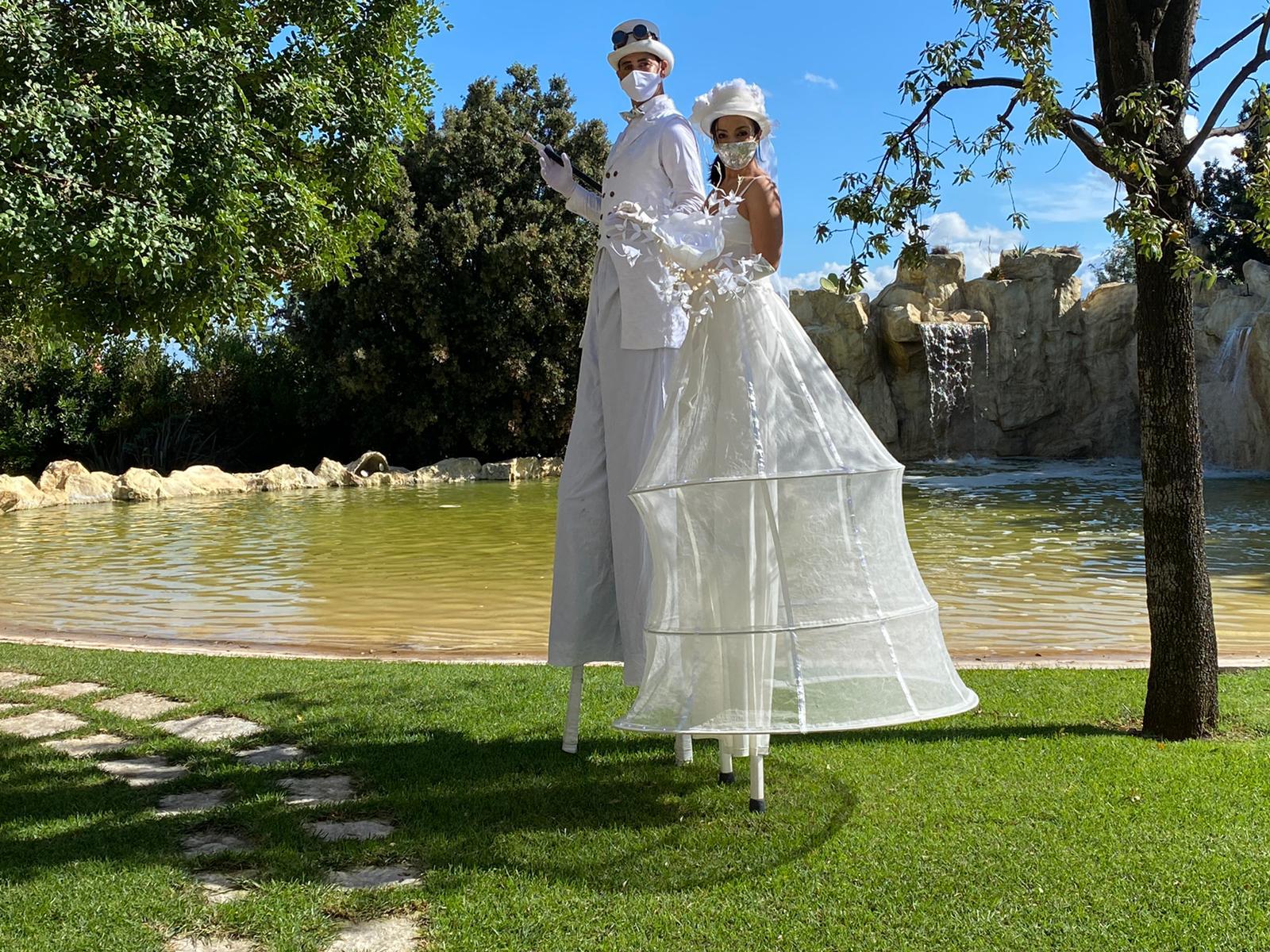 accoglienza matrimonio sposi trampolieri