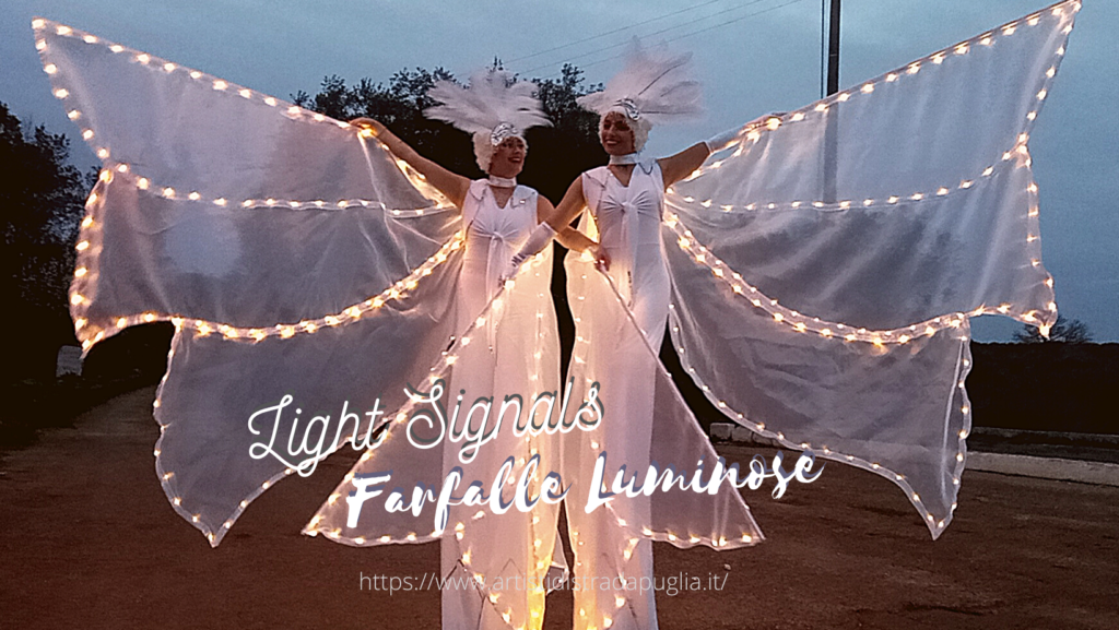 Artisti di strada Puglia, performance a giocoleria comica ed equilibrismo, esibizioni di acrobatica (aerea), spettacoli con trampolieri luminosi, intrattenimento matrimonio a tema circo.