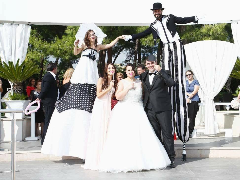 Il Matrimonio con gli artisti di strada